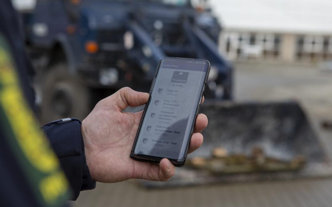 Politiet tager video streaming til nye højder