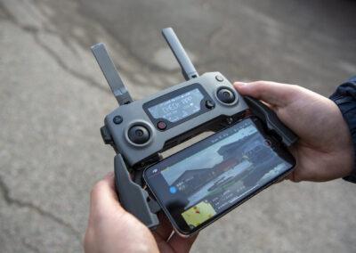 DJI drone fjernbetjening under redningsoperation