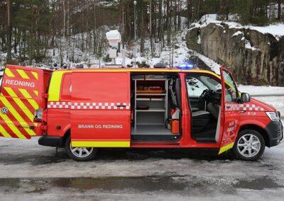 Norsk indsatslederbil med termiskkamera på taget