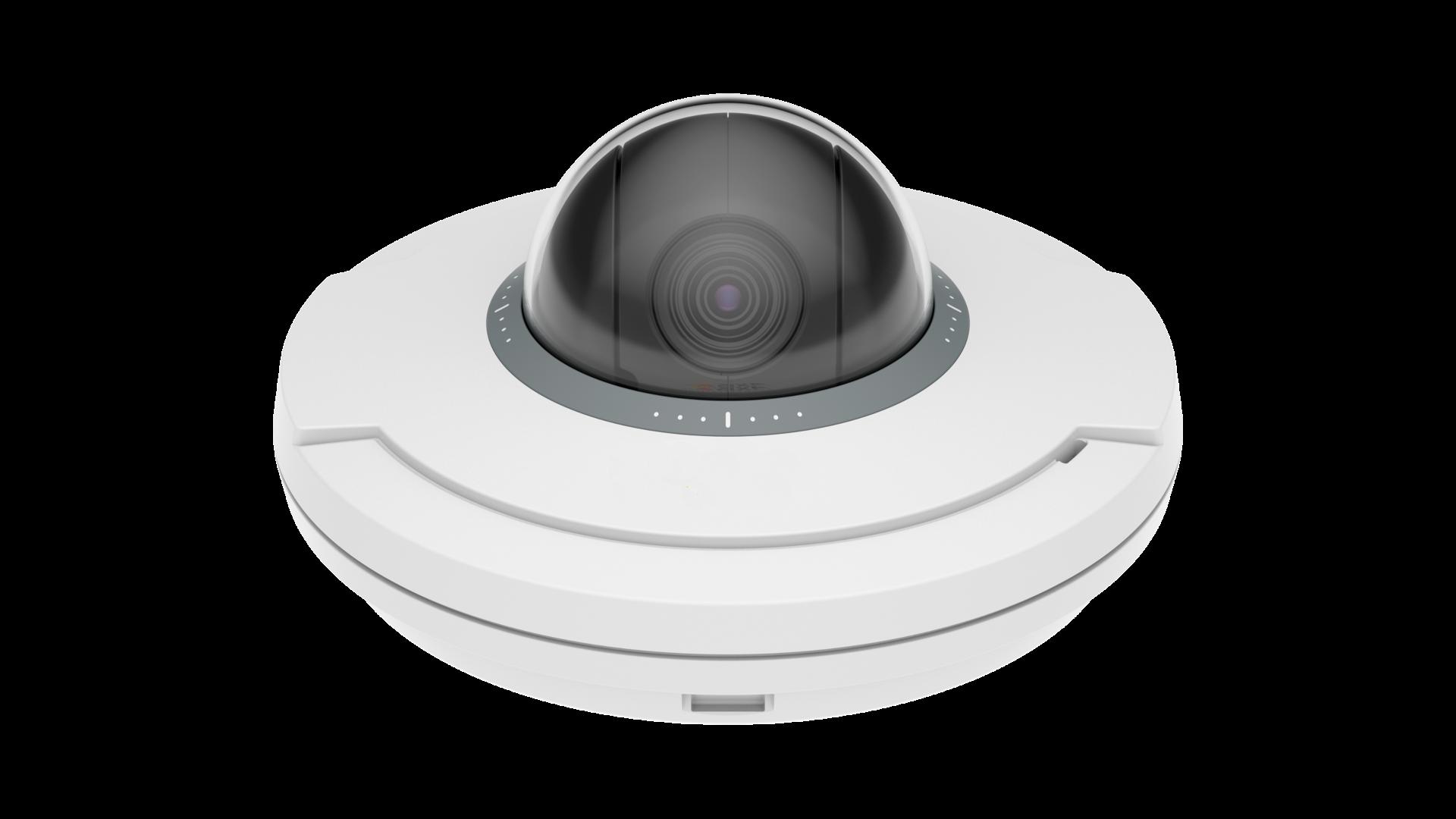 Axis pan-tilt-zoom kamera set forfra