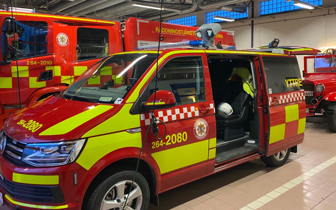 Ny innsatslederbil til Räddningstjänsten i Landskrona