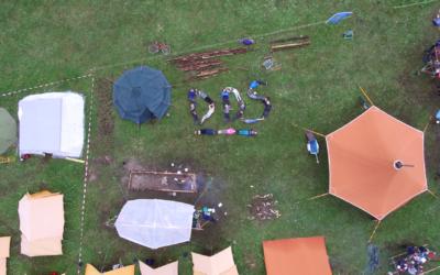 Dronestreaming ga en oversikt over gigantiske speiderleirer