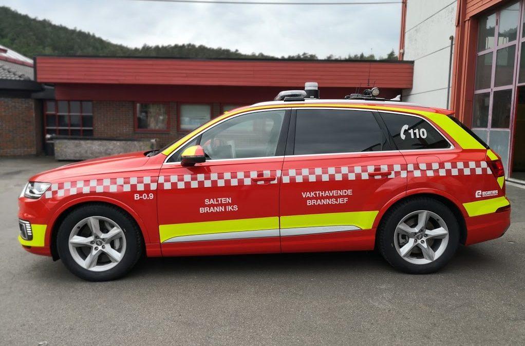 Ny bil til vakthavende brannchef i Salten Brann IKS