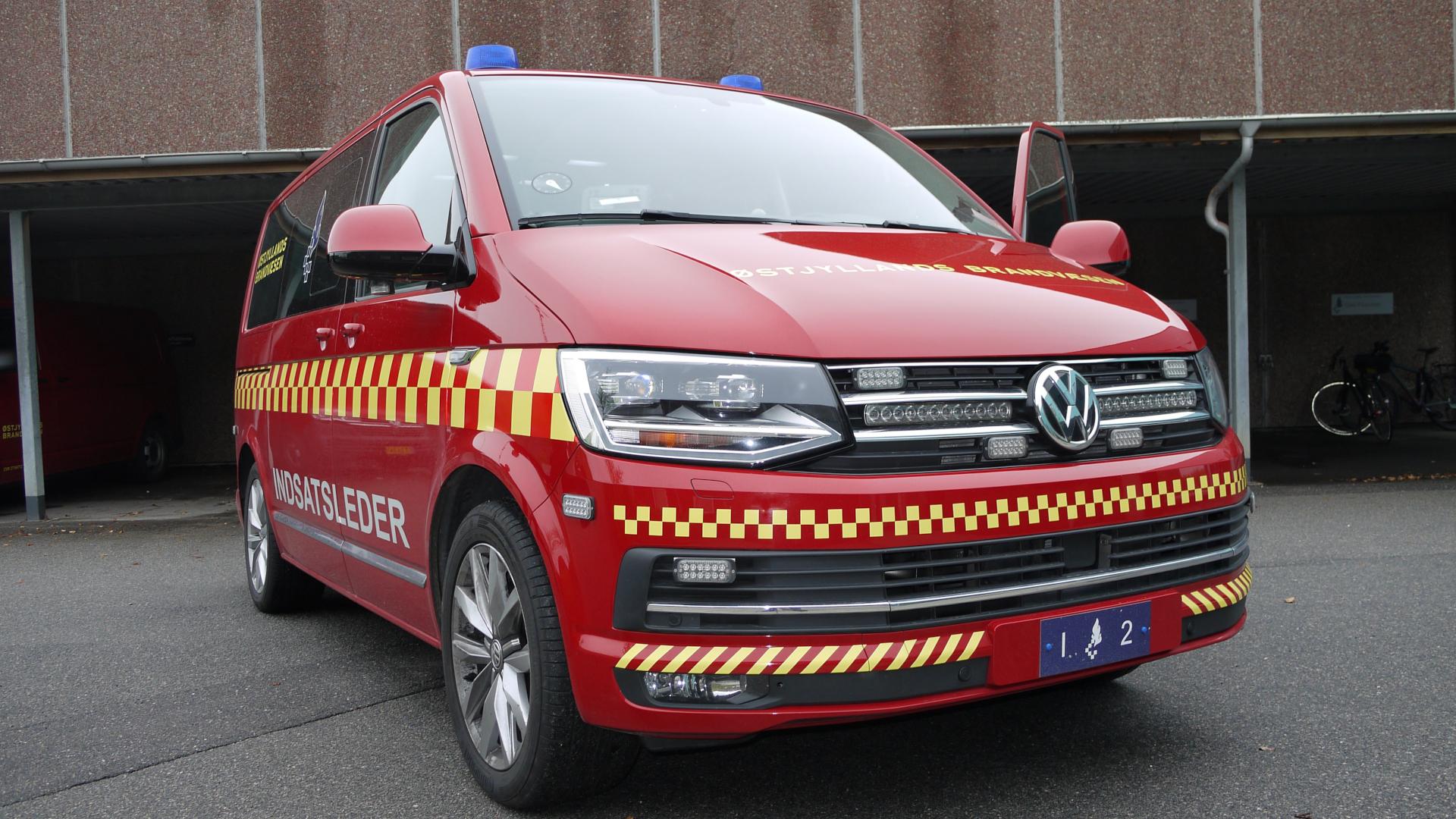VW transporter forfra indsatsleder brand